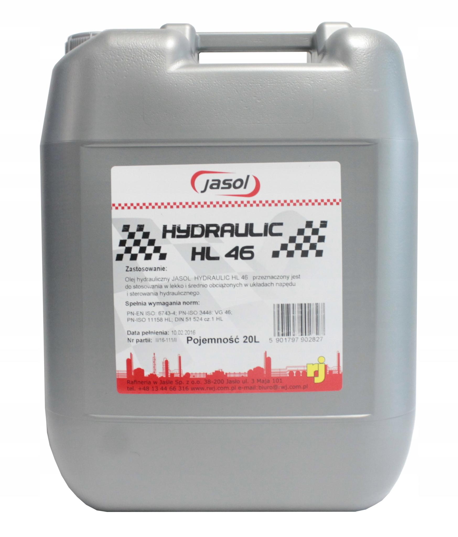 Гидравлическое масло HL 46 Jasol 30L