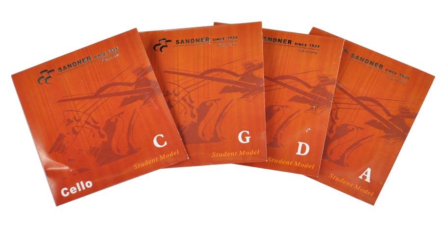 Cello / Cello struny Sanner 1/2