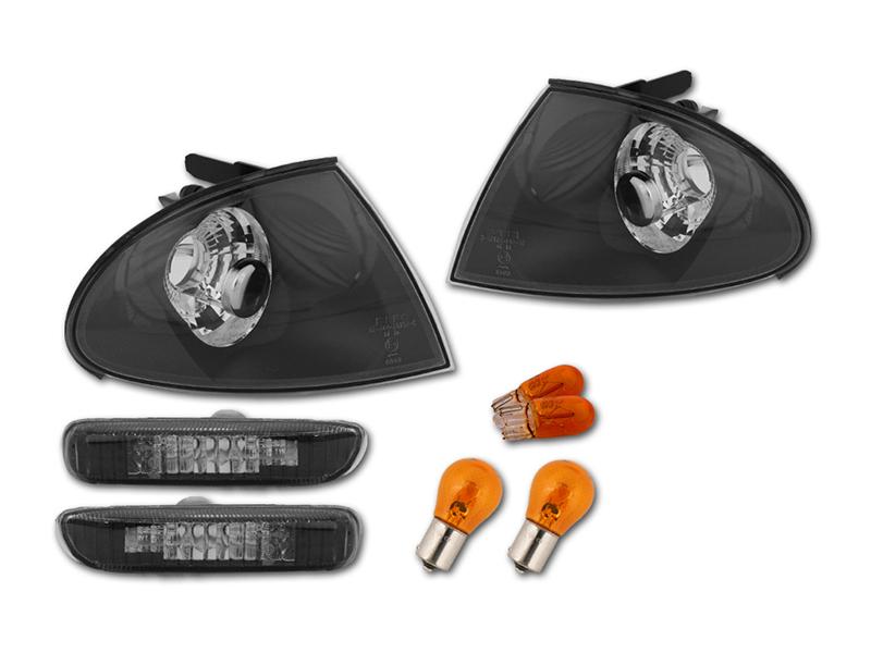 фонарь указателя поворота поворотник bmw 3 e46 седан black depo fk