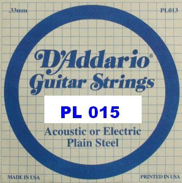 Striute D`Addario PL015 Akustika elektrikára 15 NOVÝ