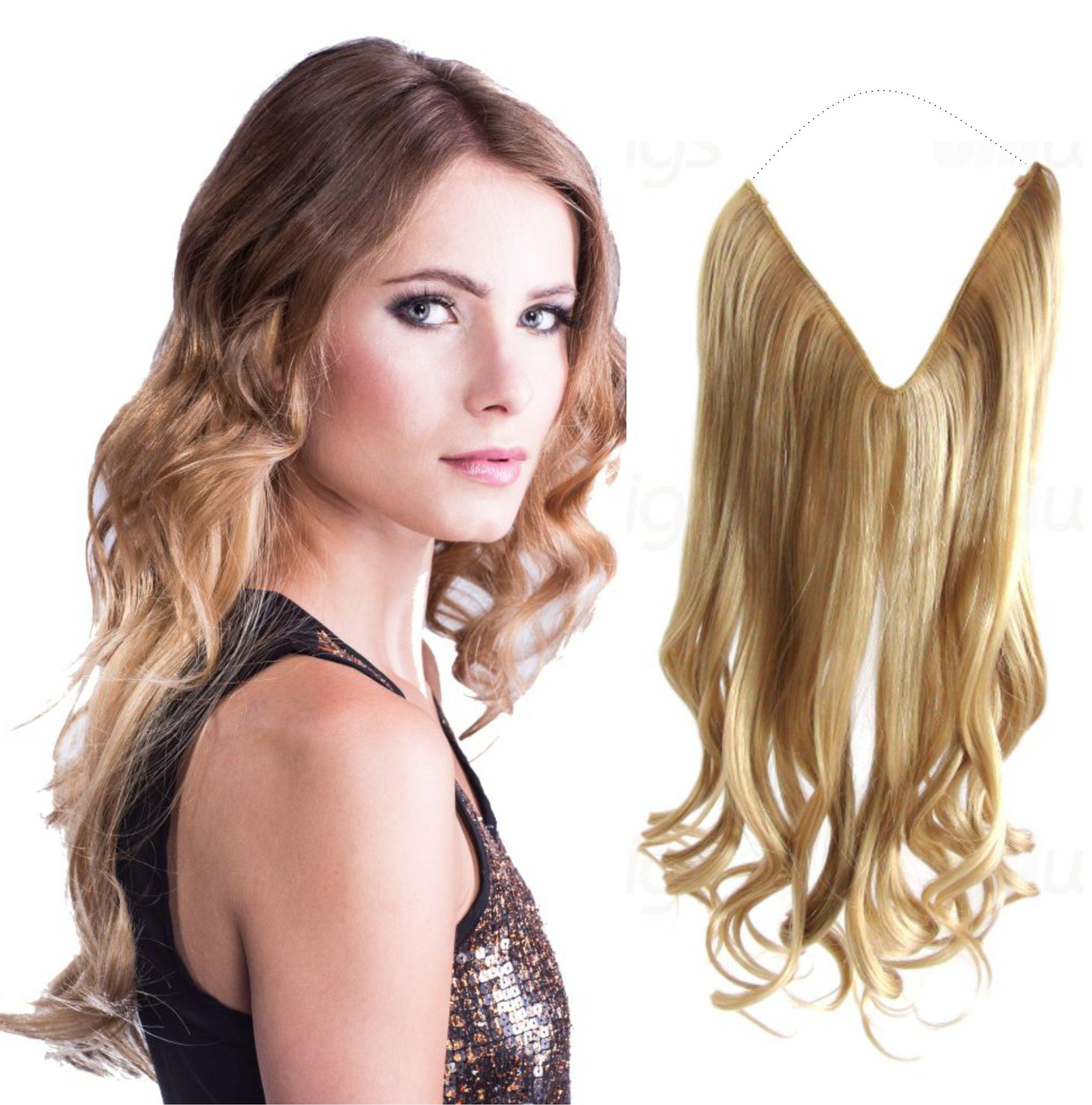 Купить Искусственные волосы FLIP IN -без ПРОВОЛОКИ на леске резинке на Otpravka - цены и фото - доставка из Польши и стран Европы в Украину.