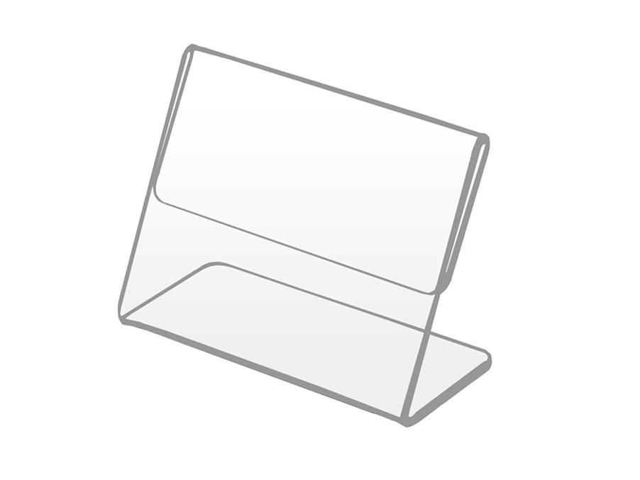 Cenový stojan, popis - cena značky 80x50 mm plexi