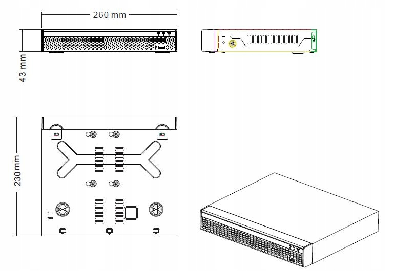 Rejestrator RTX Monitoring IP P2P 16 KAMER LSN9816 Kod producenta LSN9816D
