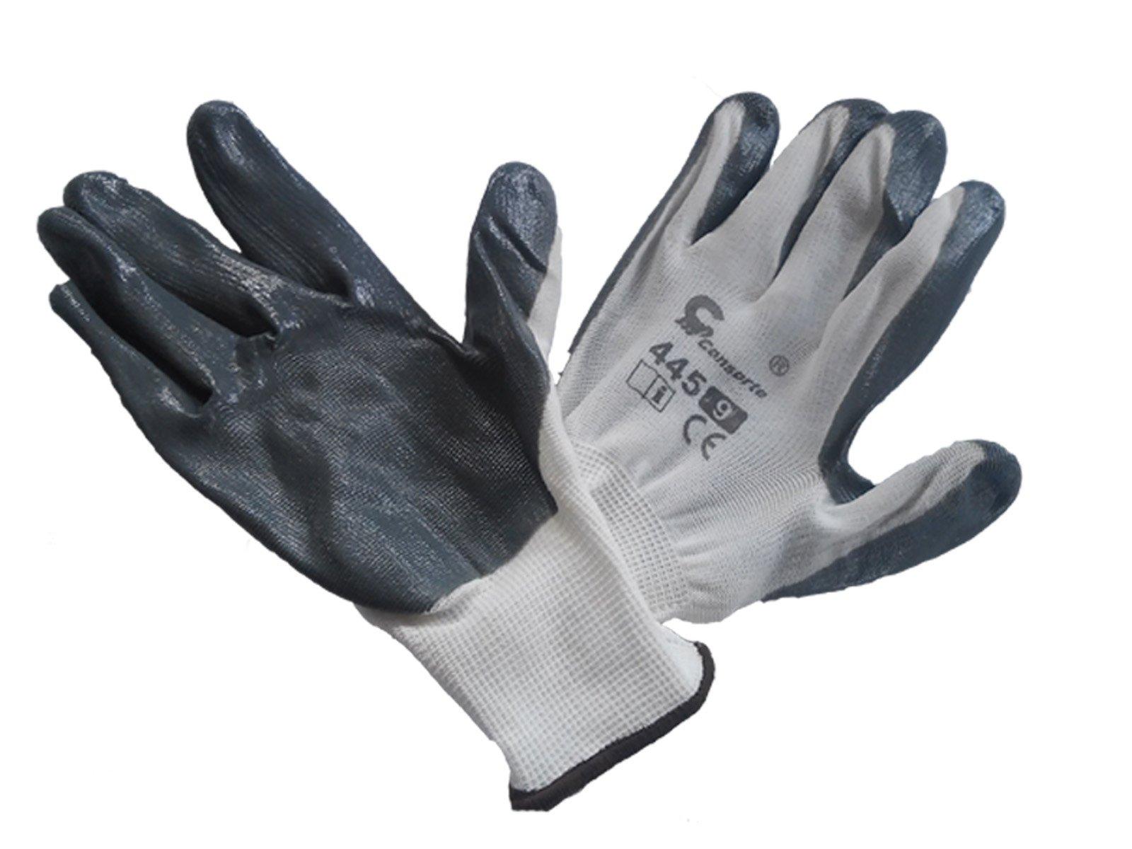 Nitrilové rukavice 445 šedej veľkosť 7,8,9