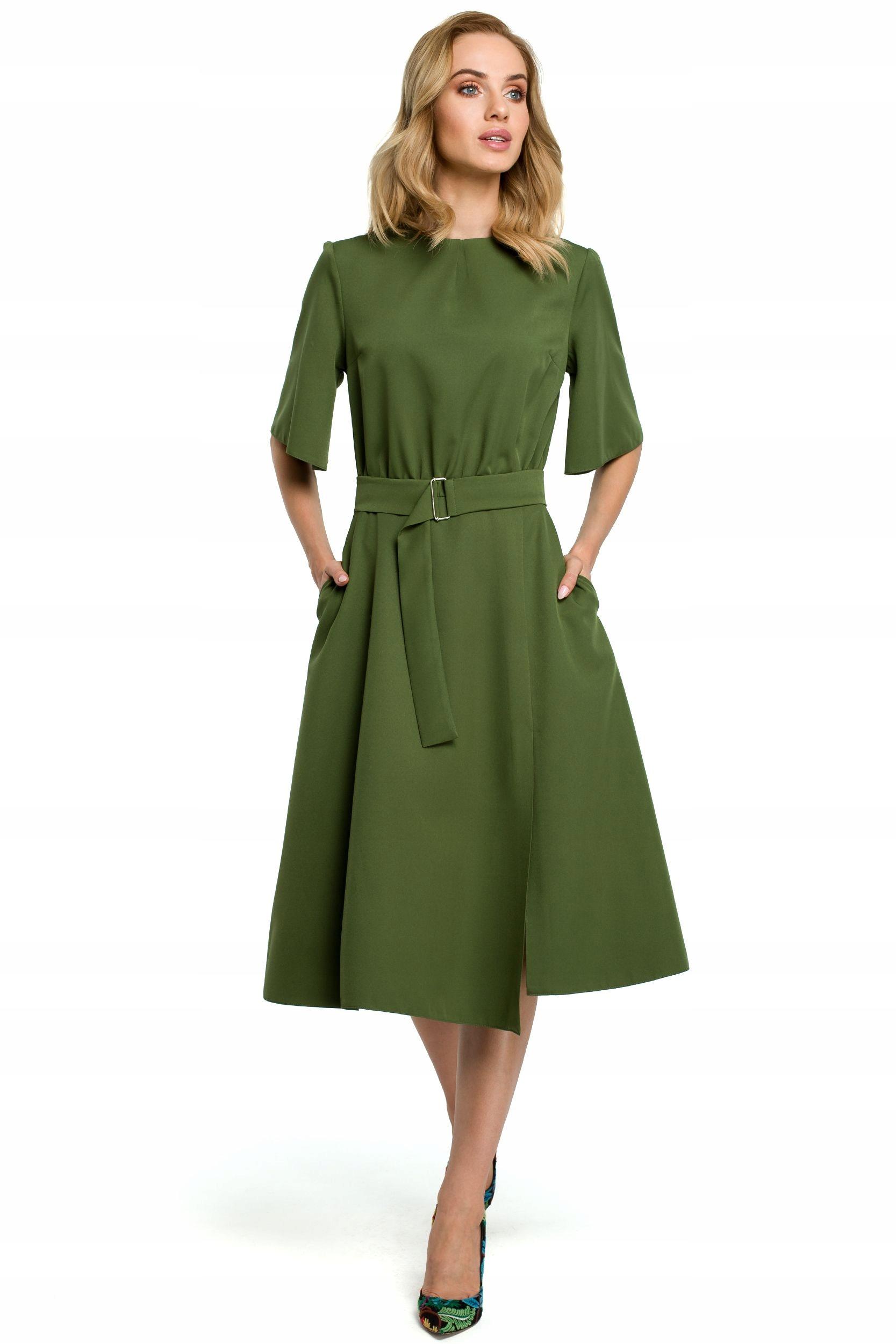 M396 Sukienka - zielona 42 | XL