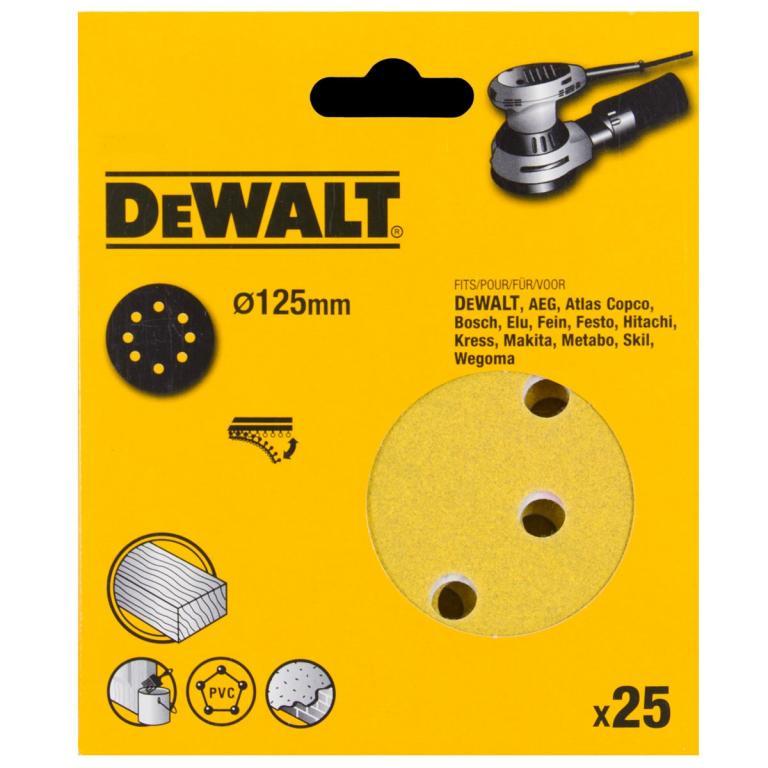 DeWALT DT3112 PAPIER P60 125mm 25ks pre DWE6423