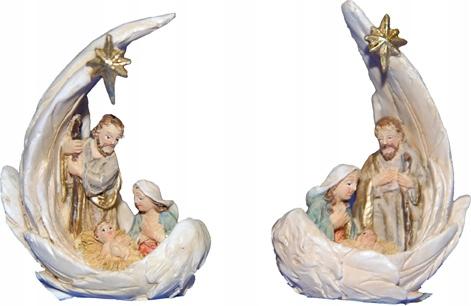 2 Postavy sv. Rodiny v krídlach - vysoké 12,2 cm