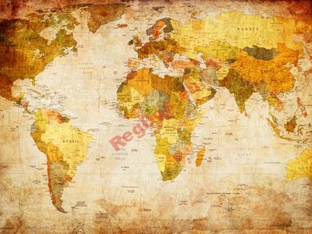 Foto Tapety na Mape Sveta na Mape Sveta VINTAGE 250x175cm