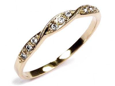 Item GOLD 585 ring with wedding RING with DIAMOND. V. 24 hours