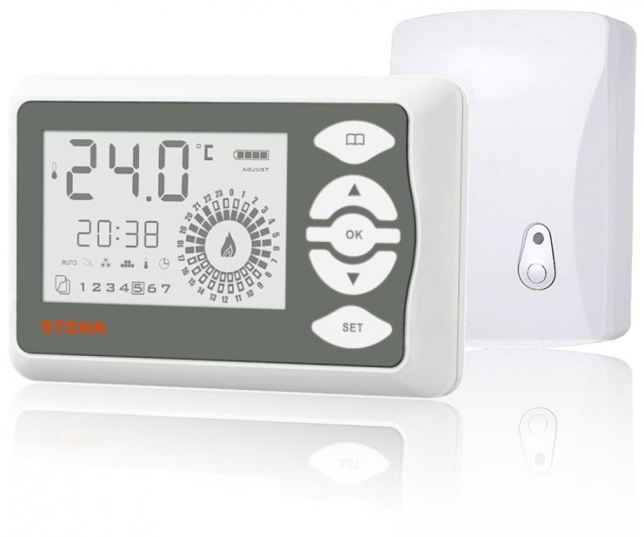 STERR termostat pokojowy bezprzewodowy RTW101