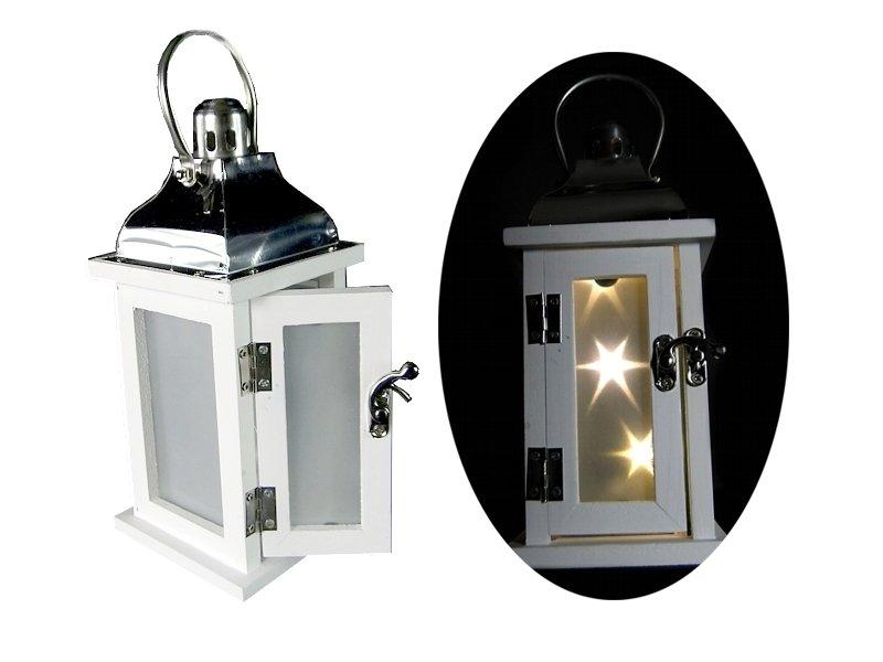 Drevené lucerny LED LANTERN na batérie (E1W)