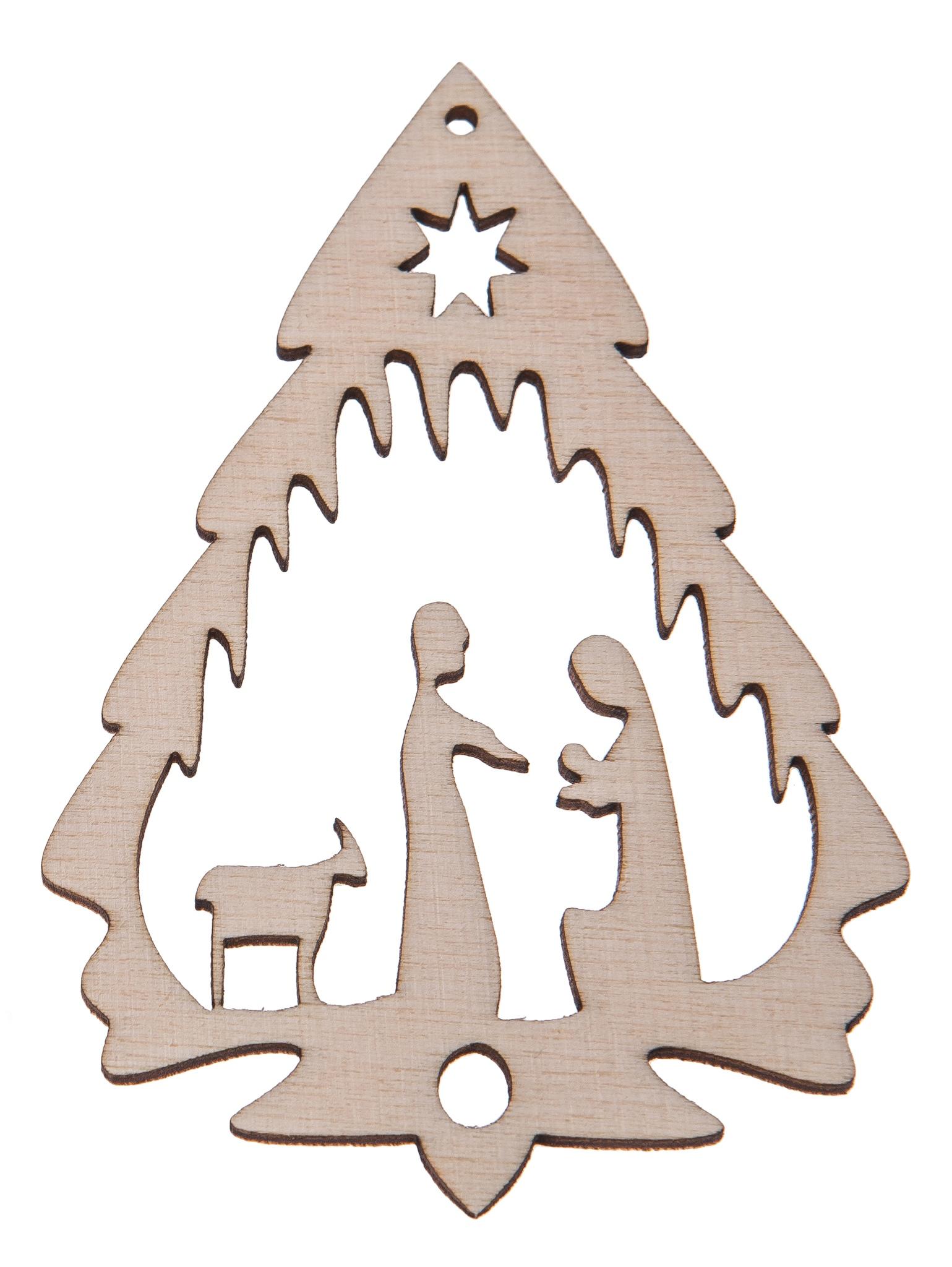 Drevený prívesok na vianočnom strome decoupage S1