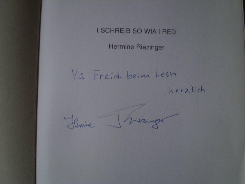 Autograf i dedykacja H. Reisinger i jej poezja