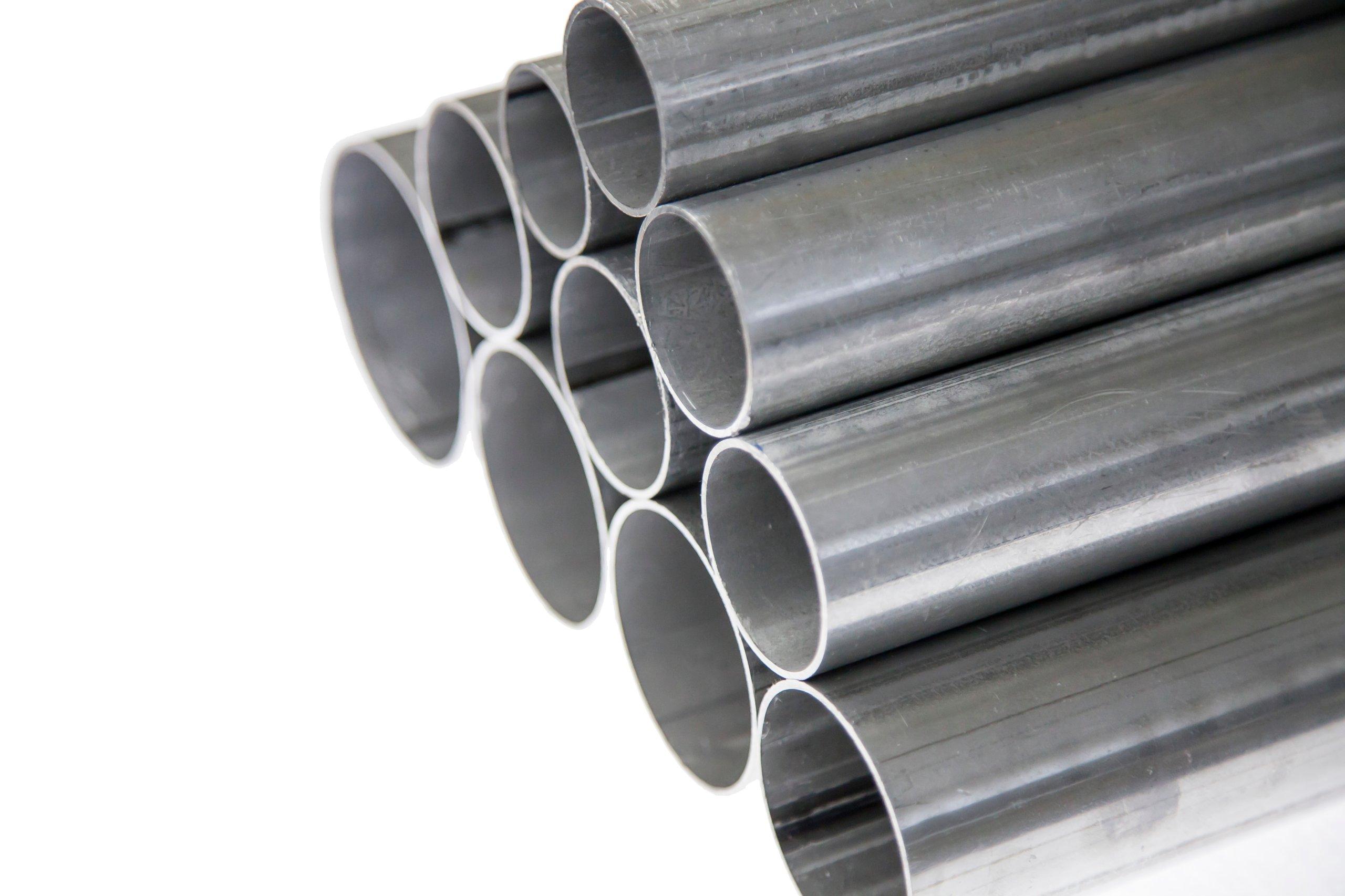 Алюминиевая прямая выхлопная труба fi 55 мм x 1 погонный метр