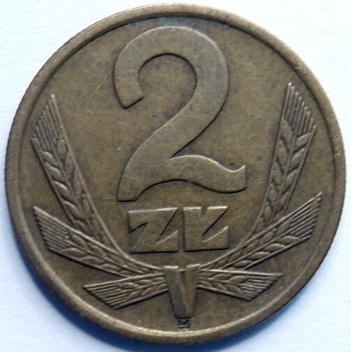 Купить 2 злотых монета 1986 красивый на Otpravka - цены и фото - доставка из Польши и стран Европы в Украину.