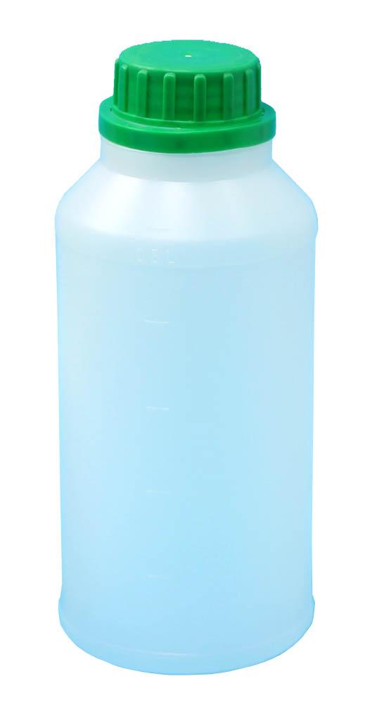 HDPE 500ml plastová fľaša (0,5 l) + matica