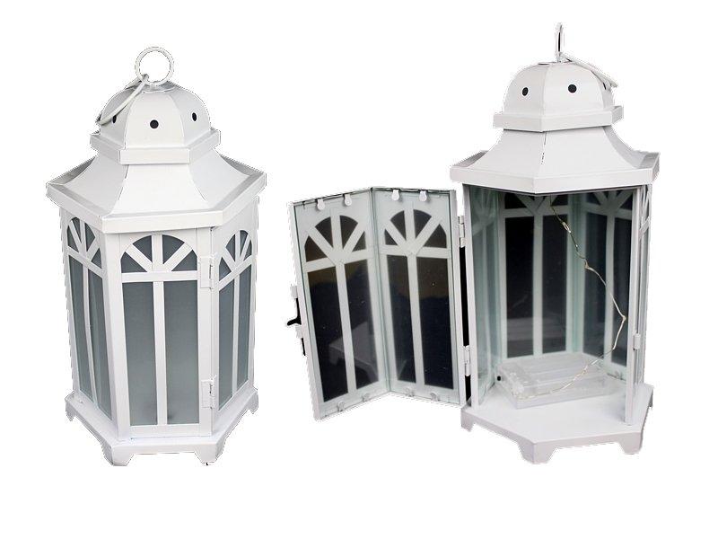 Metal Lantern s Bielym E5W LED LAMP