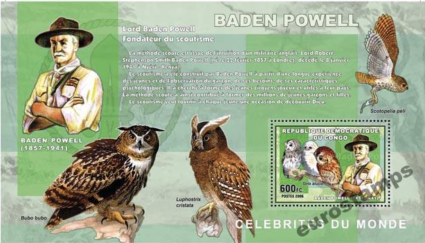 Scouting Baden-Powell Owl Congo Dr. Block # CDR0606A