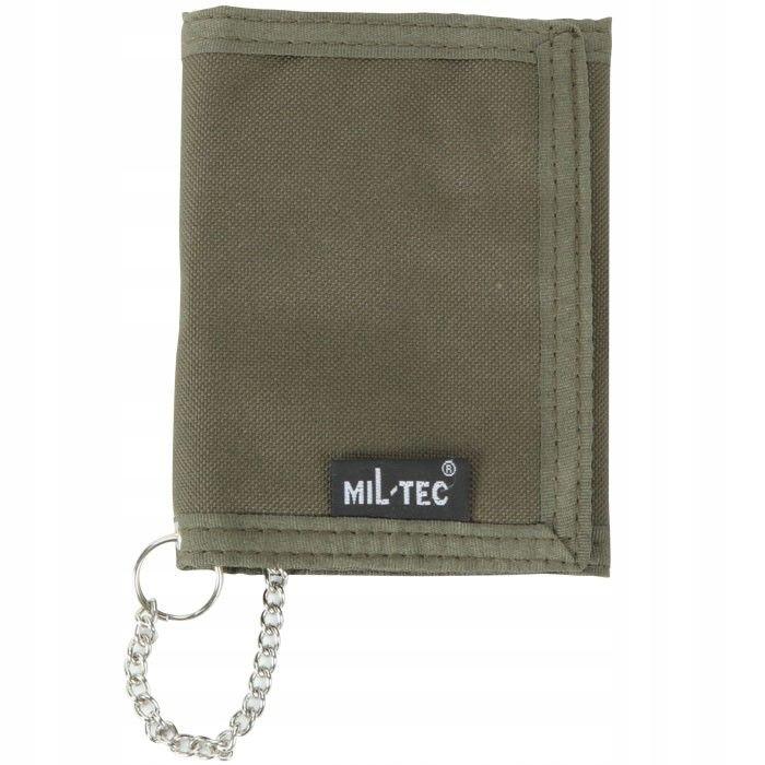 Vojenská peňaženka so zeleným reťazcom MIL-TEC