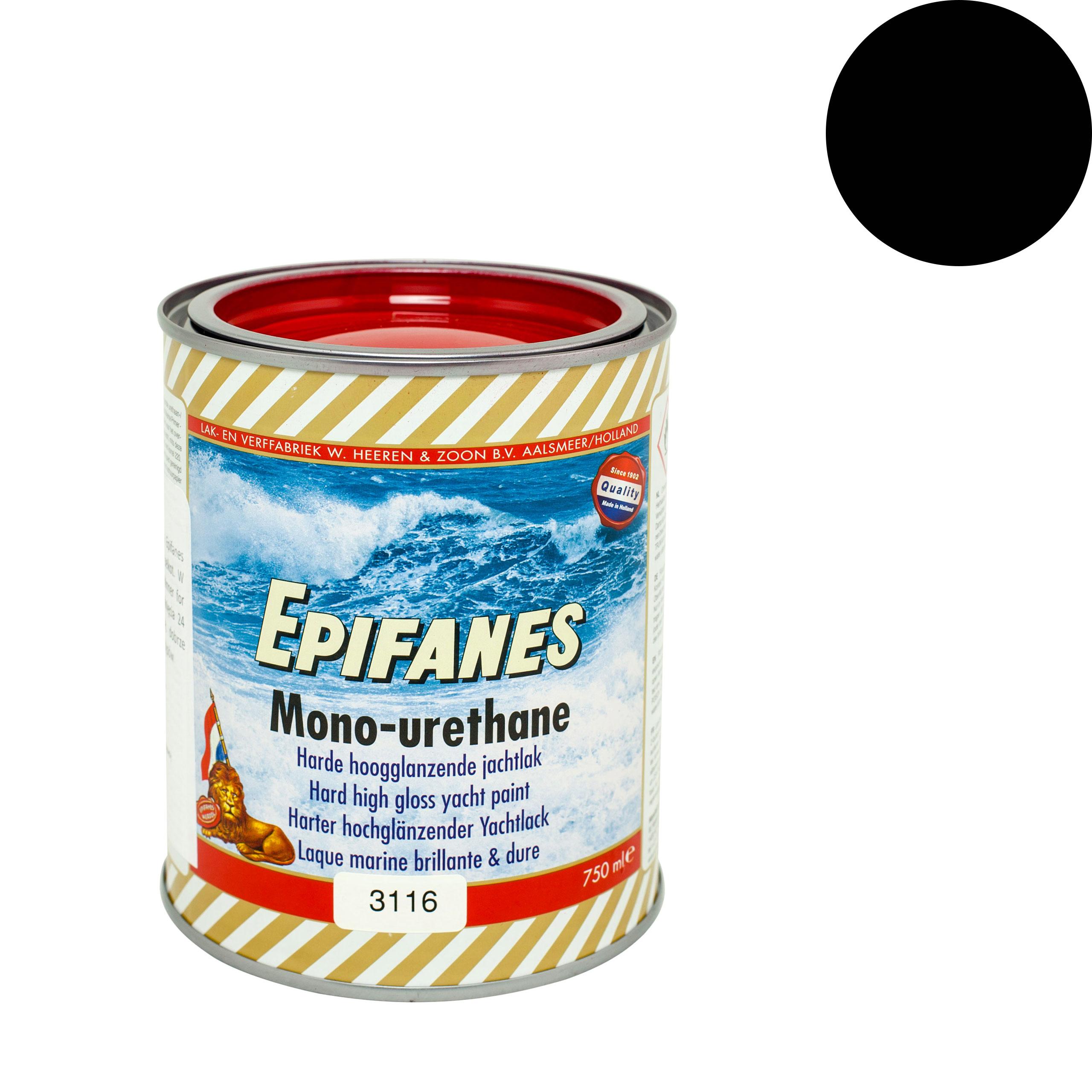 EPIFANES pevný farba člny, jachty, čierna