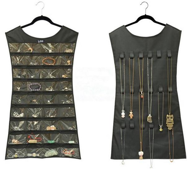 Šaty organizátor pre šperky pre šatník
