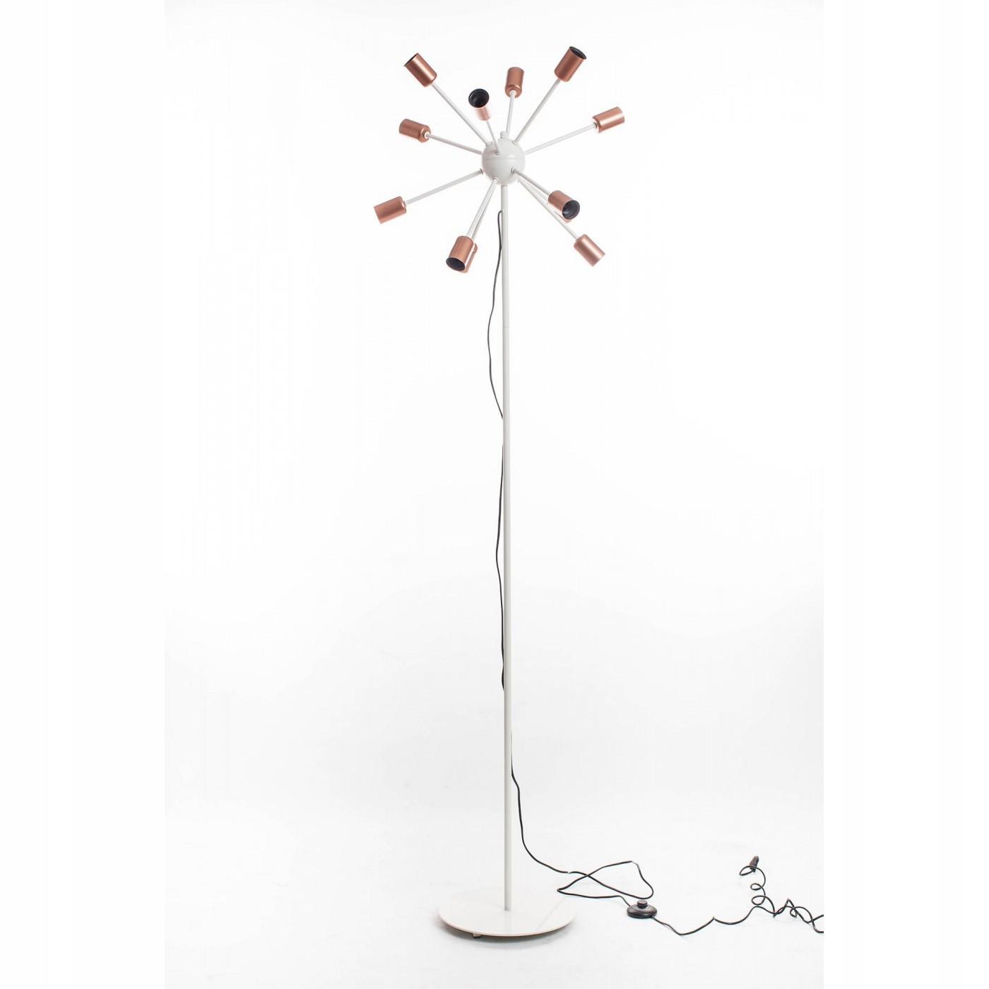 Podlahová lampa LÚČE, 12 s., 190 cm béžová + meď