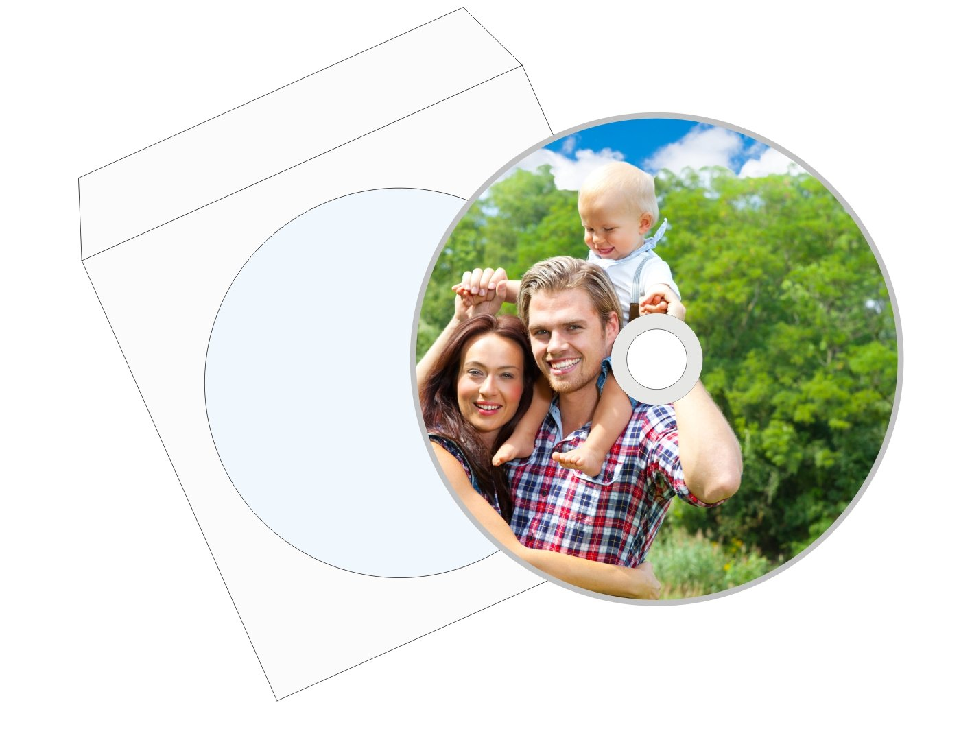 Item Printing on a CD/DVD, Envelopes - Express