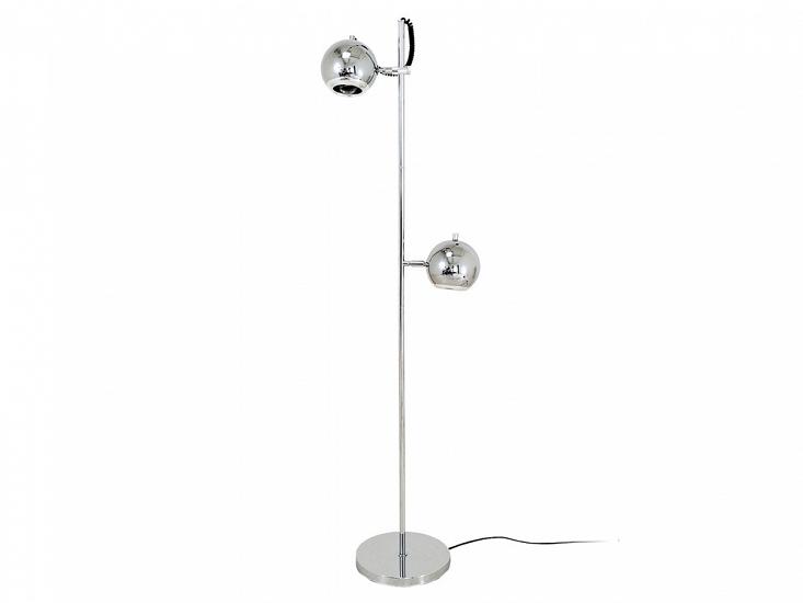Podlahová lampa Retro 2 svetlá prehliadači chrome Leitmotif