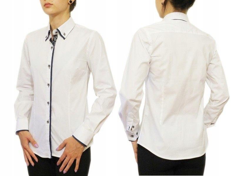 Biała koszula damska Slim Button Down 44/XXL