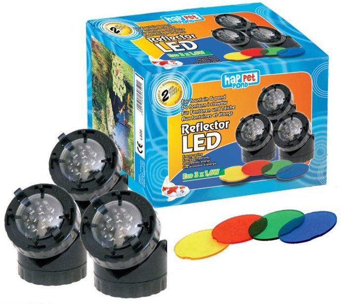 REFLEKTORY LAMPY LED 3X1,6 W 5 KOLORÓW