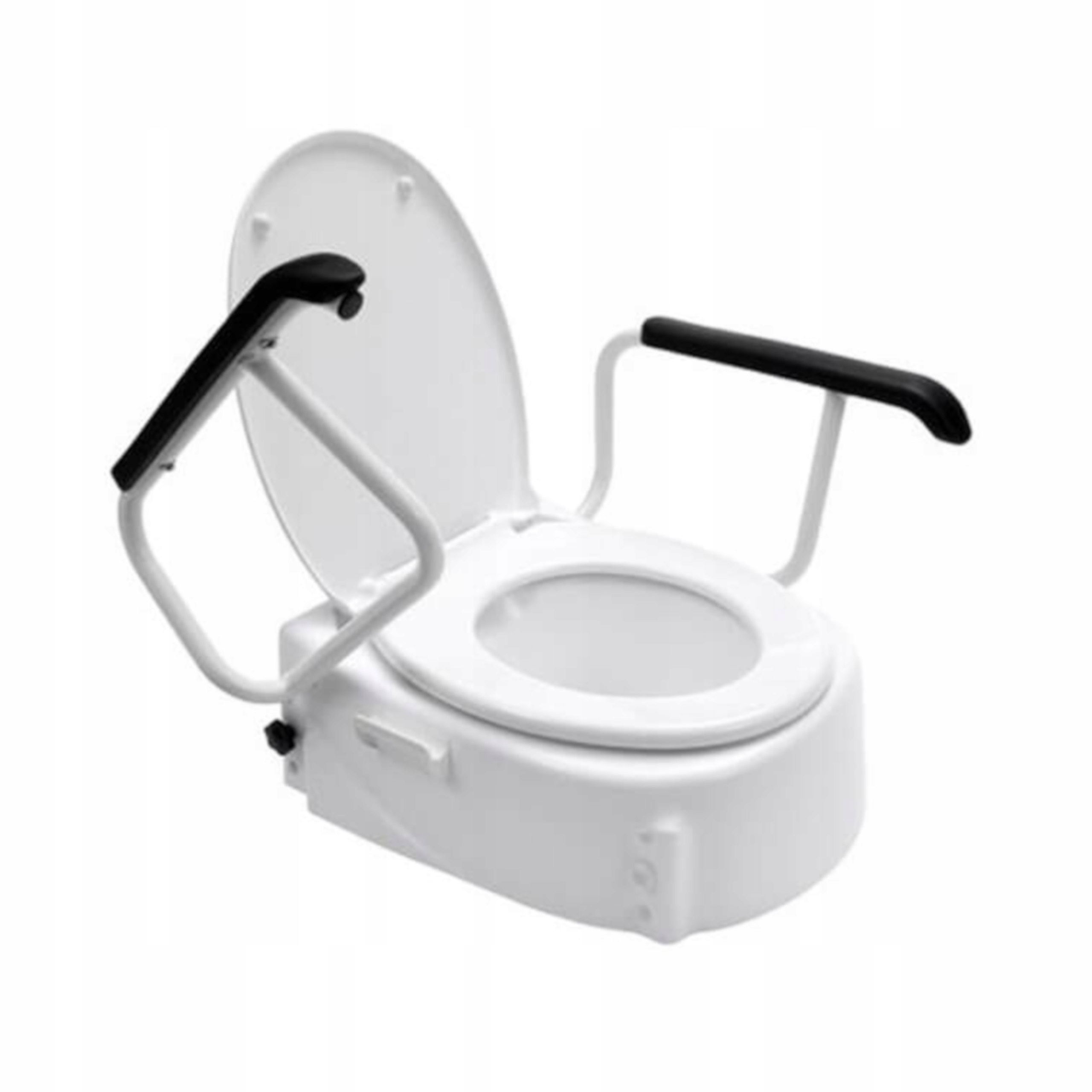 Toaletný viečko zvyšuje sedeky s zábradlím