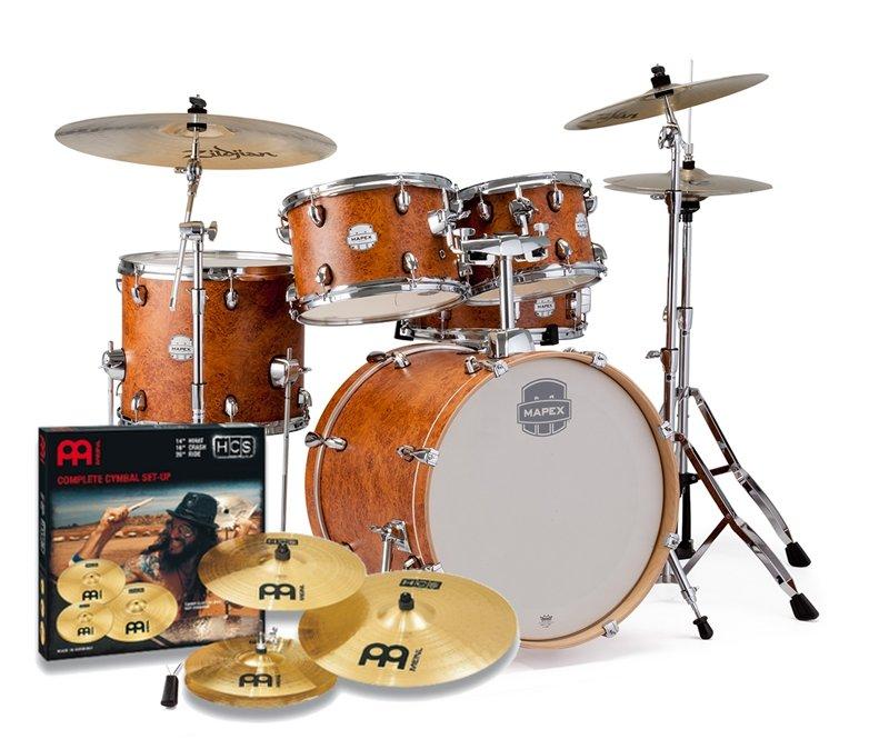 Percussion Mapex Storm + HW + Meinl HCS 14,16,20 -Krk