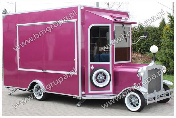 prípojného vozidla, potraviny truck, kontajner, nakupovanie , RETRO