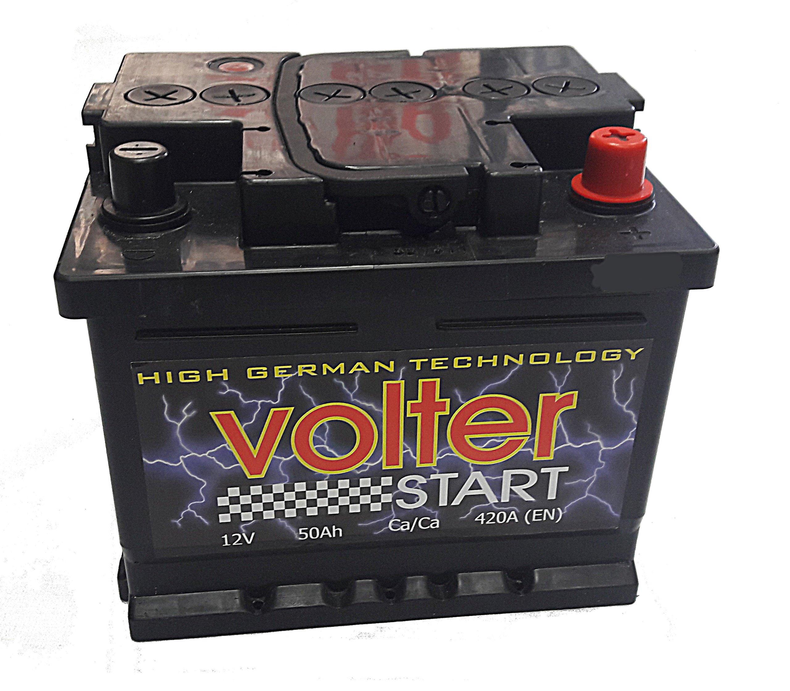аккумулятор volter 50 ах 420a