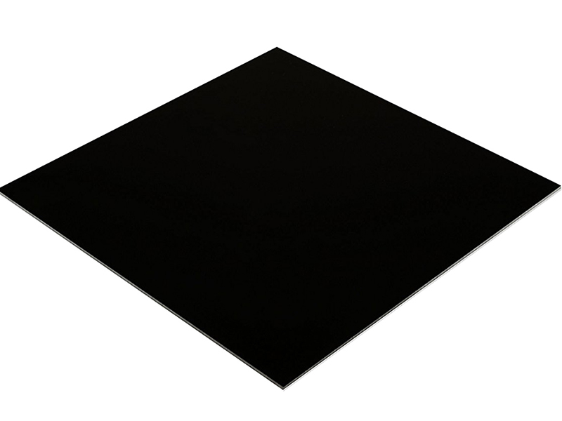 Plexi doska 3mm čierna, biela pre dimenziu plexiskla