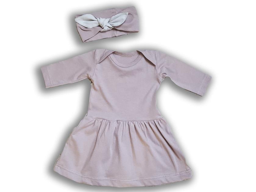 Nanaf Organické šaty + hlavový most Vintage Rose 68 cm