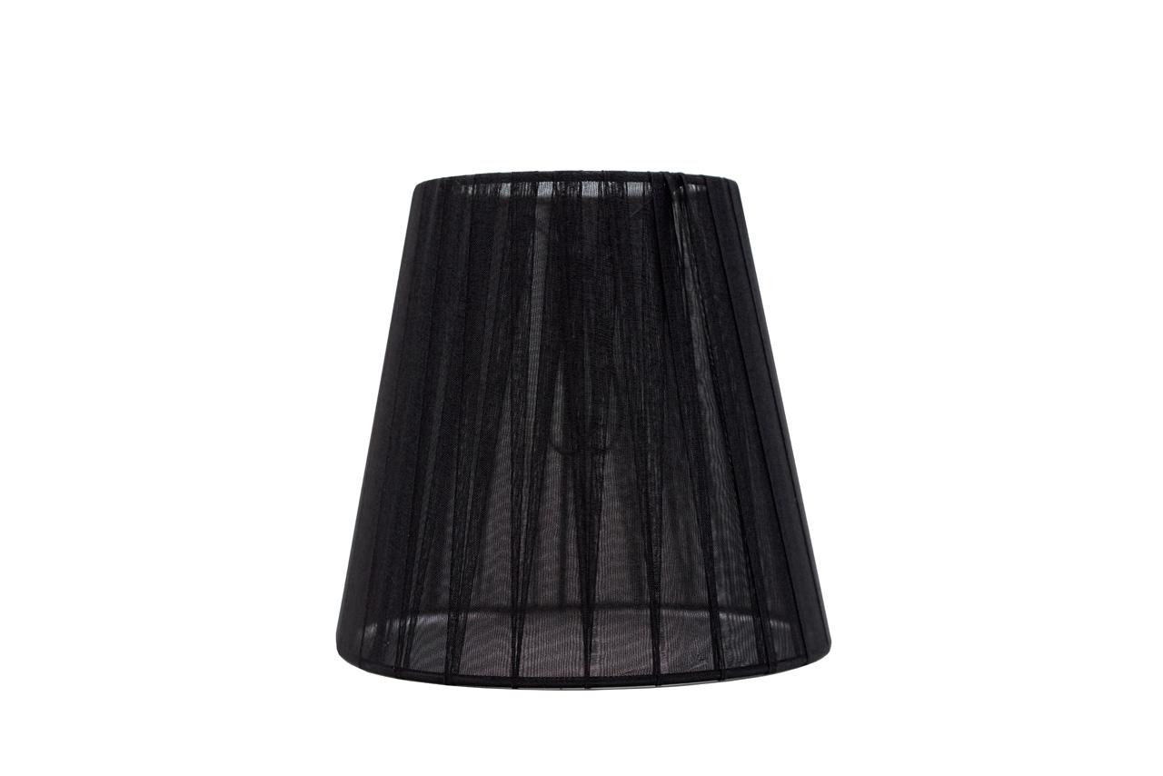 Abażur Stożek Organza Czarny 10x15,5x15 cm