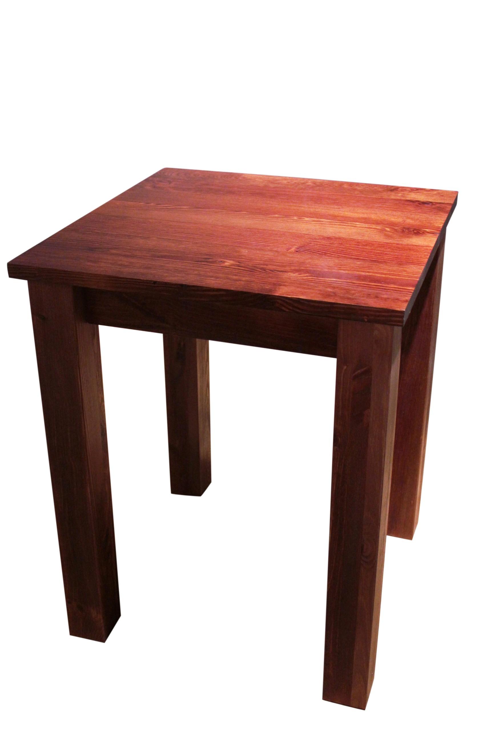 Stôl drevený konferenčný STOLÍK masívneho borovicového 70x70 NOHY