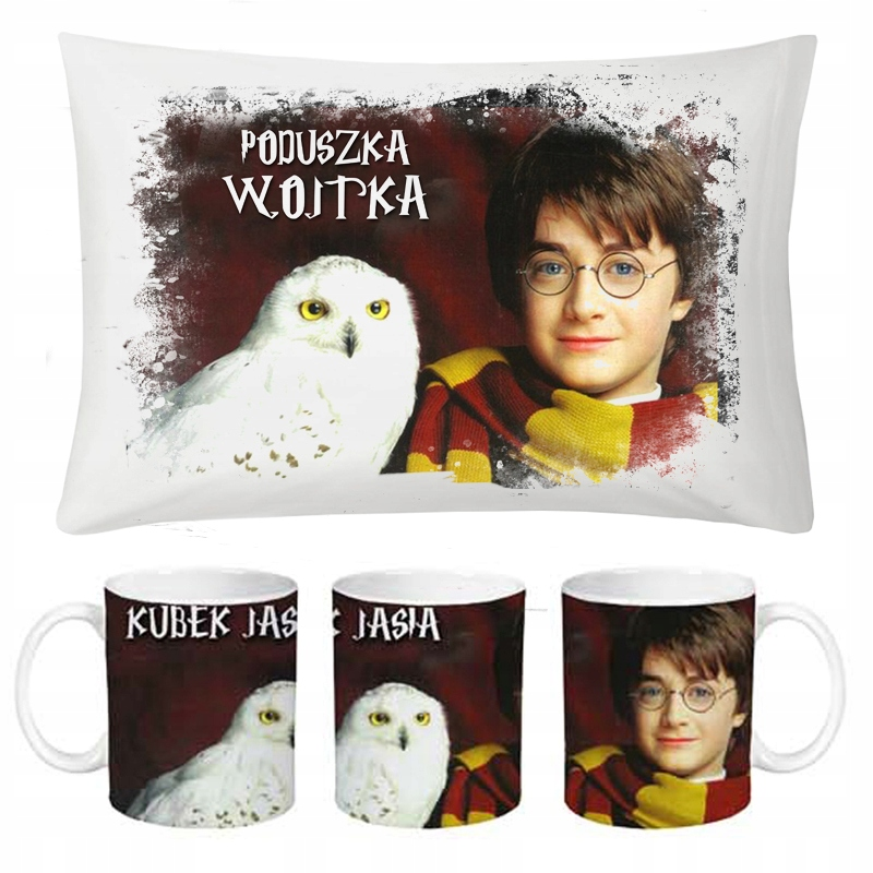 Item MUG SET + PILLOW HARRY POTTER + THE NAME OF THE FAN