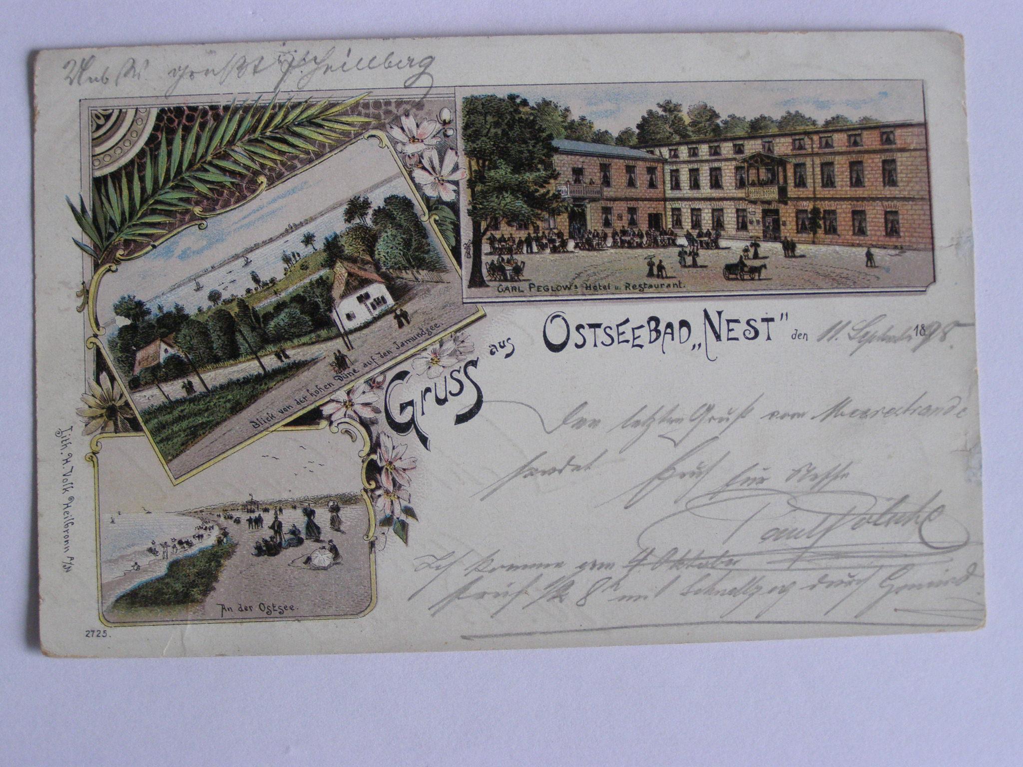 Unieście Nest zamek Peglowa Mielno Koszalin 1898