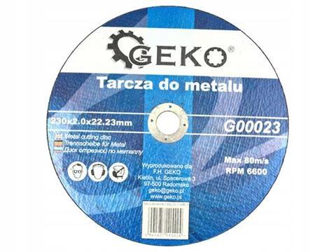 Kovový rezací kotúč 230x2.5 GEKO KRAKOW