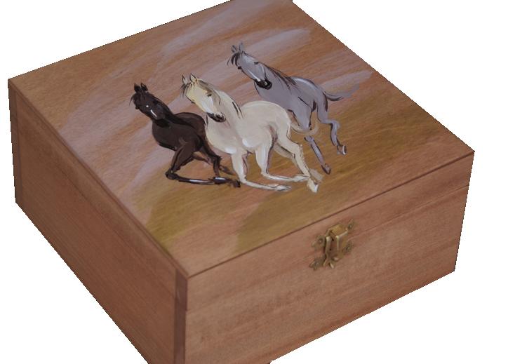Купить Сундучок Шкатулка с зеркалом Лошадей в Подарок на Otpravka - цены и фото - доставка из Польши и стран Европы в Украину.
