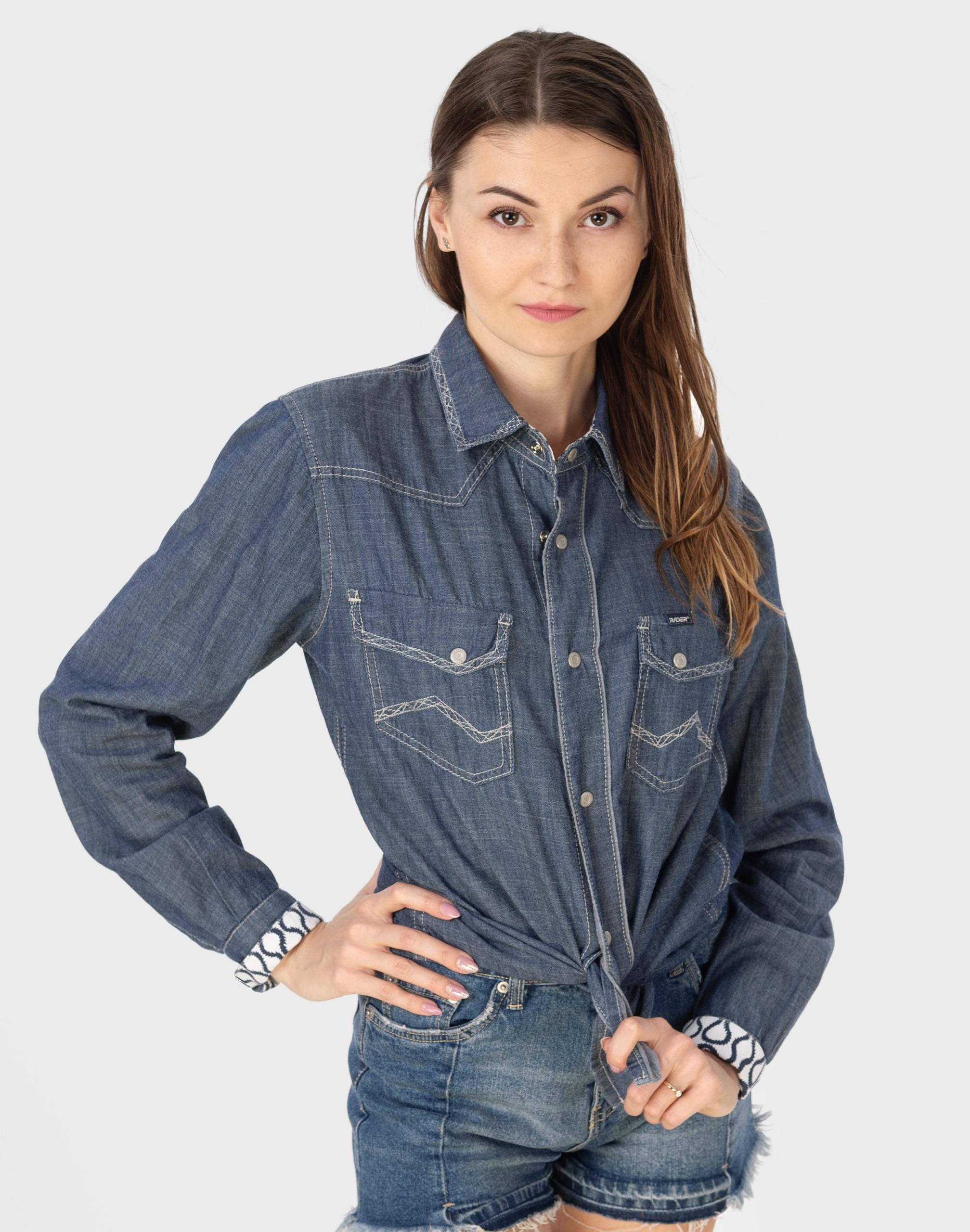 Koszula Damska Jeansowa Bluzka Denim Jeans 917 XL 7523894593  oDIF9