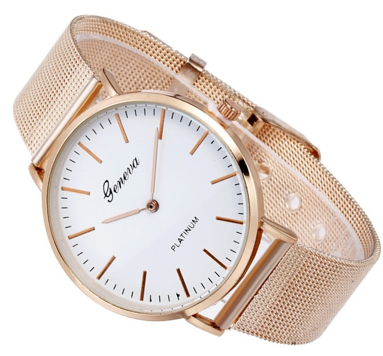 Item Women's watch GENEVA rose gold metal strap