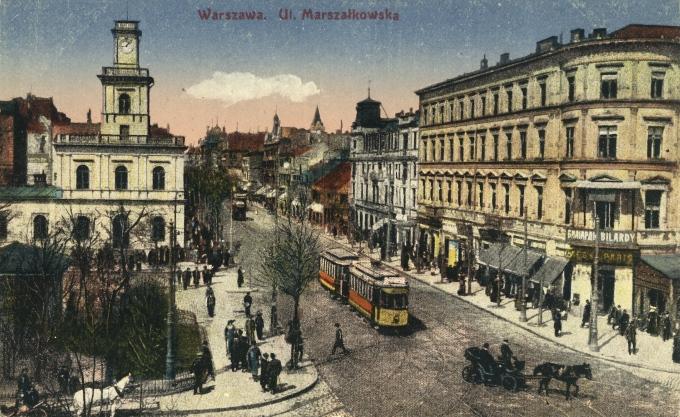 Varšava, ul. Marszałkowska. Vydanie. Ostrowski, 191-?