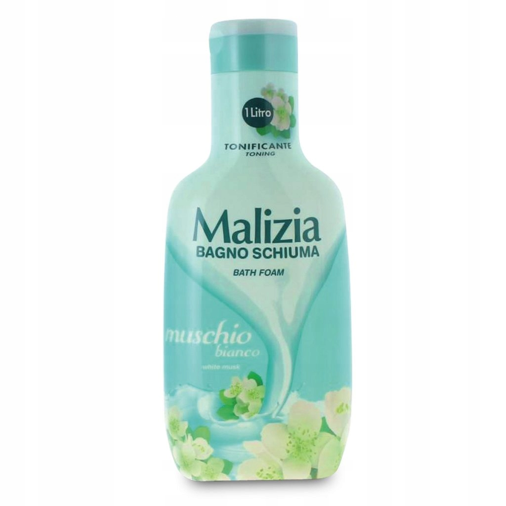Malizia пена для ванны белый мускус 1Л