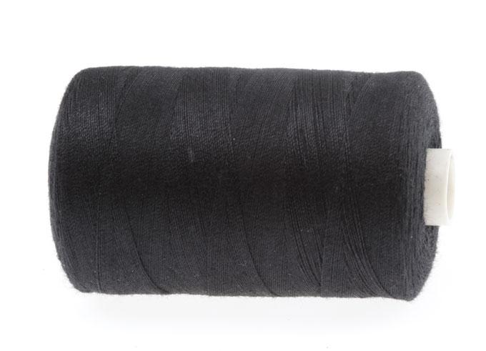 Нить нитка машинная для машина швейная черная 914m