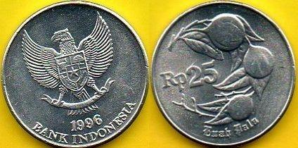 INDONEZJA 25 Rupiah 1996 r.