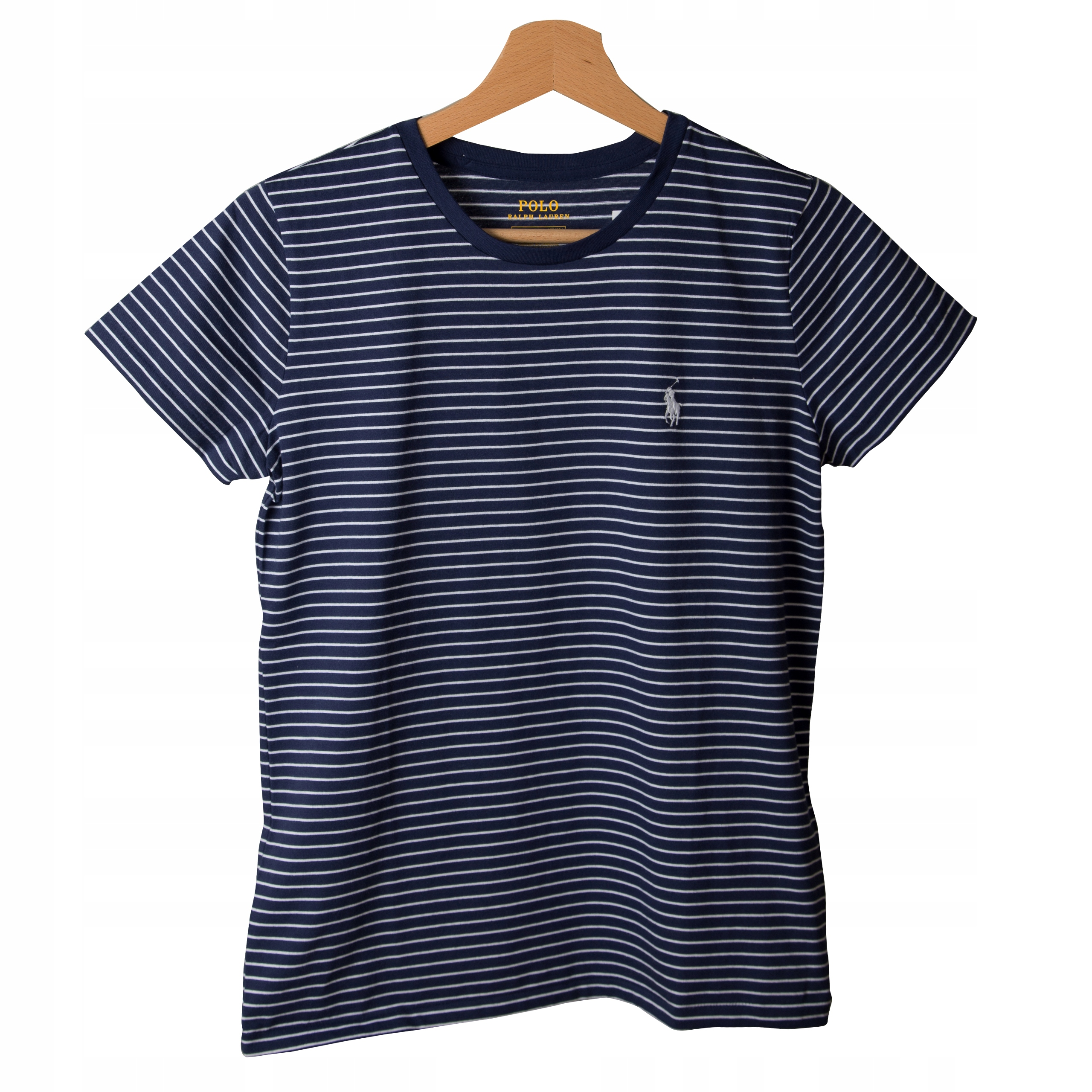 t-shirt Polo Ralph Lauren paski biel granat Xs