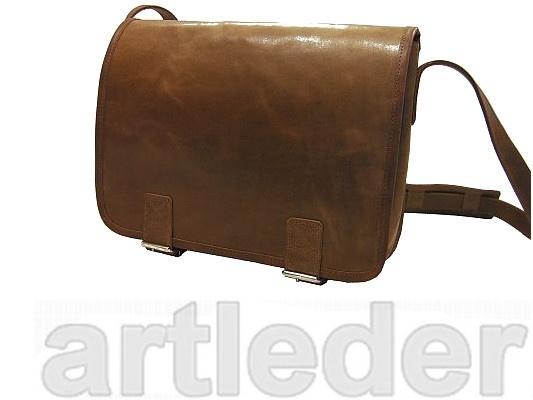 Mestská kožená kabelka, retro poľský poštár